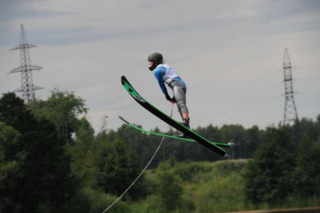 Наталья Бердникова (Беларусь) выиграла прыжки с трамплина