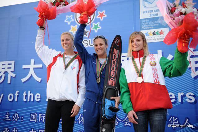 Мария Веремчук (Беларусь) заняла 3-е место в слаломе на Чемпионате мира 2008 среди студентов