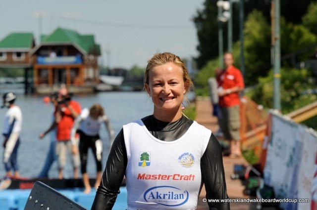 June Fladborg (Дания) лидирует в прыжках с трамплина на этапе Кубка мира 2009 в Дубне