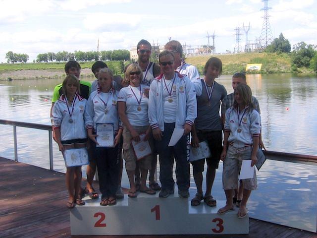 Победители и призеры Кубка России 2009 по водным лыжам (фото Веры Федоровой)