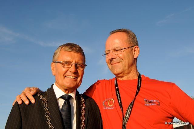 Мэр Валленсбека Kurt Hockerup и Президент датской федерации водных лыж Frank Tengberg