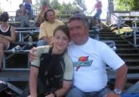 Карина Сергеева (Рыбинск) со своим отцом и тренером Александром Сергеевым (фото Веры Федоровой)