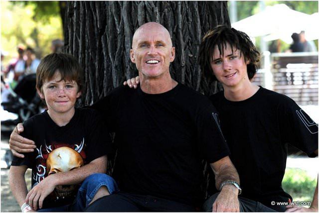 Рэй Стокс со своими сыновьями на Moomba 2010