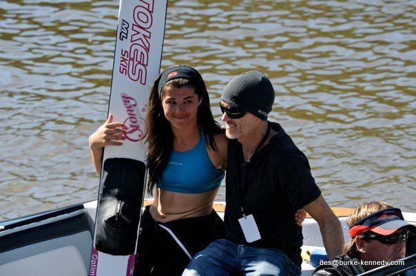 Чемпионка Moomba Masters 2011 Джасинта Кэрролл со своим тренером Реем Стоксом