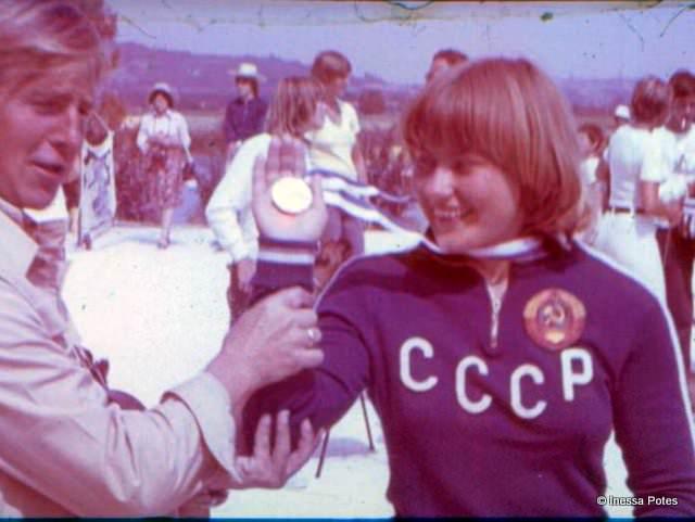 Инесса Потэс (Минск) - первая советская чемпионка Европы