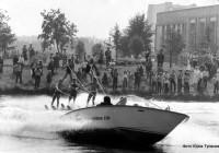 Показательные выступления воднолыжников в Звездном городке