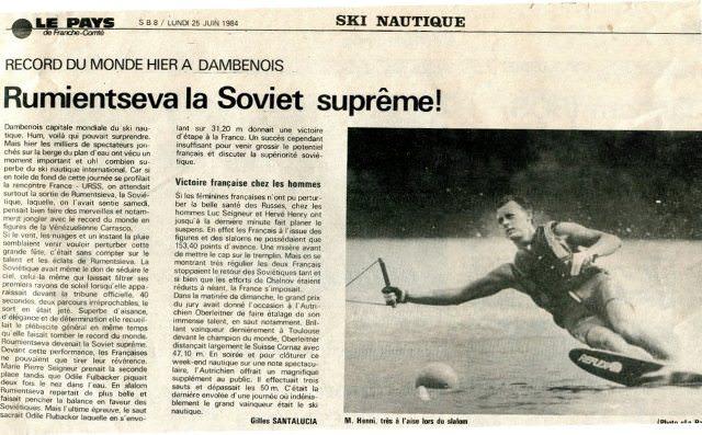Le Pays de Franch-Comte, 25 июня 1984 года