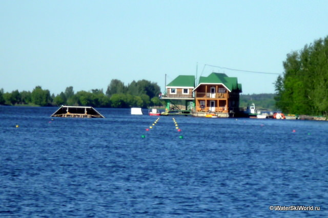 Трасса для Чемпионата мира 2011 по водным лыжам установлена в Дубне