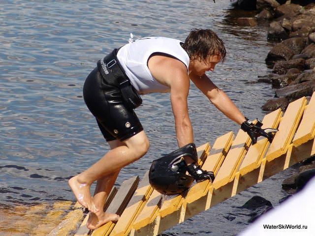 Герман Беляков на Чемпионате мира 2011 по водным лыжам в Дубне