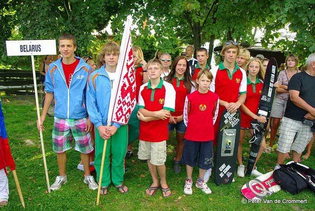 Команда Беларуси на Юношеском Чемпионате Европы 2011 по водным лыжам за электротягой