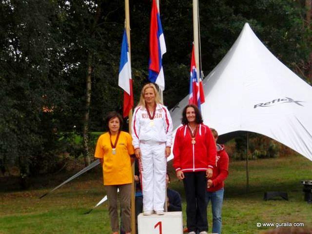 Ольга Губаренко (Россия) - Чемпионка Европы в слаломе среди ветеранов старше 45 лет