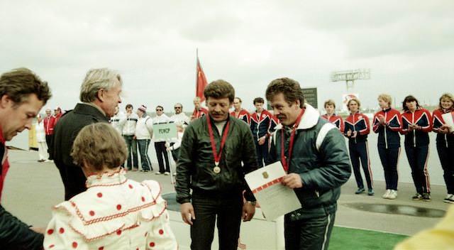 Виктор Григорьевич Афанасьев и братья Нехаевские (фото Юрия Туманова)