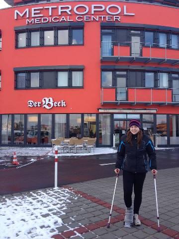 Анна Стрельцова у клиники в Германии