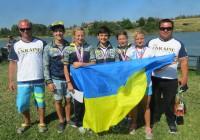 Команда воднолыжников Украины с тренерами Юрием Еремеевым и Максимом Семавиным (фото автора)