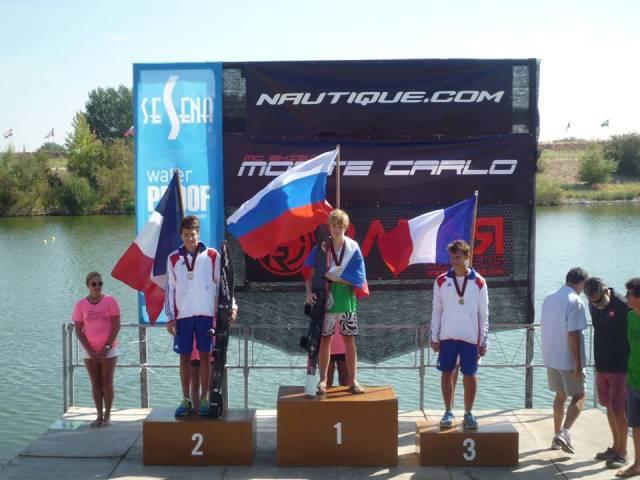 Григорий Суслов - чемпион Европы до 14 лет в слаломе (фото Олега Суслова)