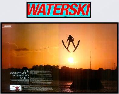 Разворот в самом популярном воднолыжном журнале мира Waterski Magazine, посвященный Игорю Морозову