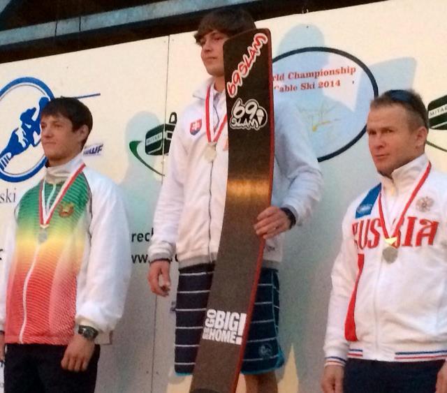 Мировой и два национальных рекордсмена на подиуме чемпионта мира - Александр Вашко, Никита Папакуль, Владимир Рянзин (фото Юлии Мейер)