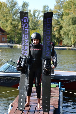 София Максименкова (Днепропетровск) уже видела, как выглядит сверху европейский рекорд в прыжках с трамплина