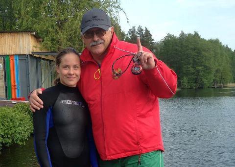 Анна Стрельцова и заслуженный тренер РБ Аркадий Генов