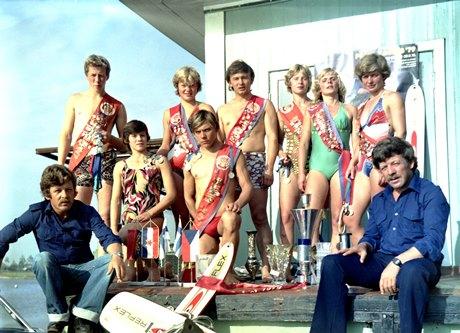 Воднолыжная школа братьев Нехаевских - команда мастеров, 1979 год (фото Алексея Нехаевского)