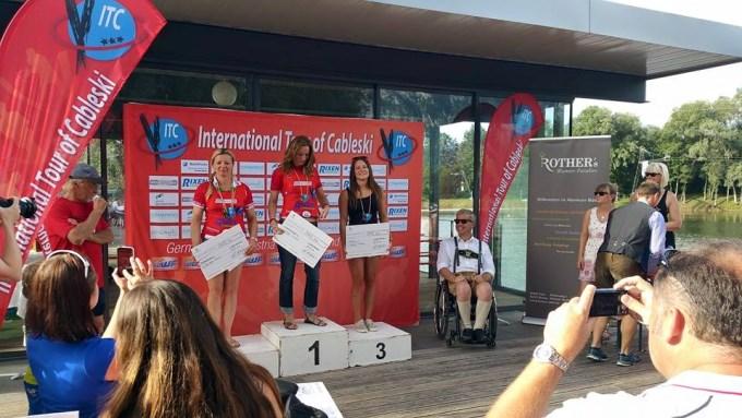 Александра Гибинска - чемпионка The first International Tour of Cableski - Stop 2015 в Германии (фото из ФБ спортсменки)