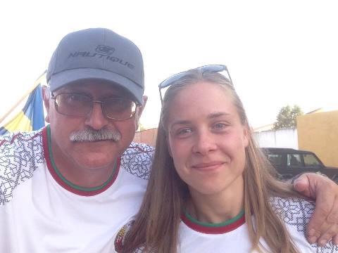 Тренер и спортсменка. Аркадий Генов и Анна Стрельцова