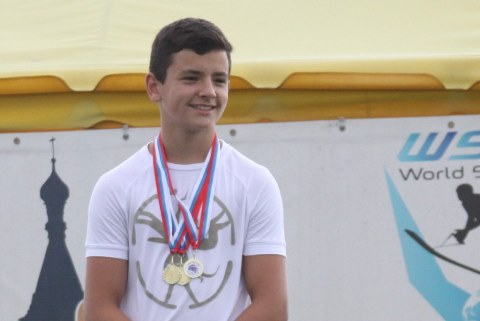 Чемпион Vega Open 2015 Алекс Самойлов - автор нового европейского достижения в фигурном катании до 14 лет (фото Марины Амельянчик)