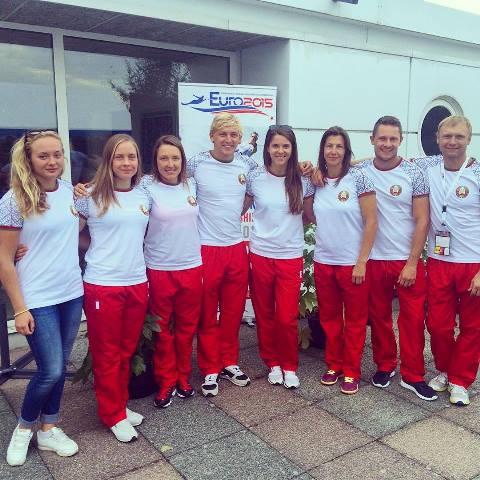 Команда Беларуси - серебряный призер чемпионата Европы 2015 (фото из ФБ Ирины Дымонт)