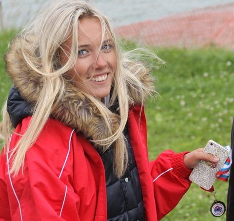 Мария Лещенко - чемпионка Европы в слаломе до 17 лет (фото Марины Амельянчик)