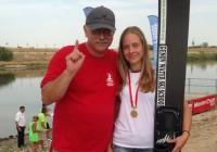 Анна Стрельцова и заслуженный тренер Республики Беларусь Аркадий Генов после победы на чемпионате мира 2015 до 21 года