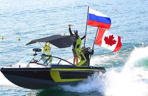 Игорь Морозов и Райан Додд на церемонии открытия Masters. Фото Des Burke-Kennedy