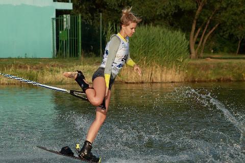 Анна Трукова (Россия) вошла в пятерку сильнейших в фигурном катании у женщин. Фото На трассе слалома - Антон Антонов. Фото Trixen Park Košice
