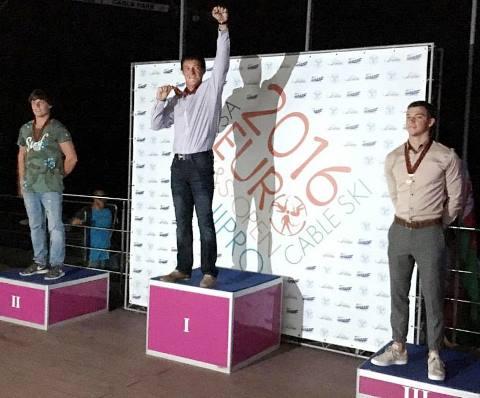Никита Папакуль, Александр Вашко, Илья Лобкович - на подиуме чемпионата Европы в мужском многоборье. Фото из ФБ Никиты Папакуля