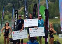 Фредди Крюгер, Райан Додд, Игорь Морозов на подиуме The Canadian Open. Фото Water Ski Canada