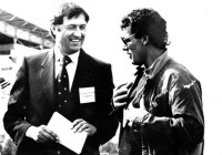 Валерий Ожогин и чемпион мира из Канады Джордж Атенс. Фото из архива Василия Горюнова