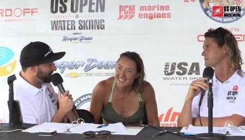 Дважды бронзовый призер 2016 US Open Наталия Бердникова в комментаторской студии турнира