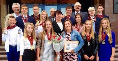 По итогам сезона 2016 новополоцких воднолыжников чествовали в родном городе.