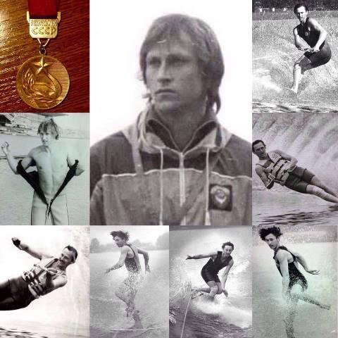 Аркадий Генов, рекордсмен и чемпион, на водных трассах.