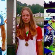 Алексей Жерносек, Анна Стрельцова, Никита Папакуль (справа налево) - лучшие спортсмены мира среди воднолыжников в 2016 году. Коллаж Аркадия Генова