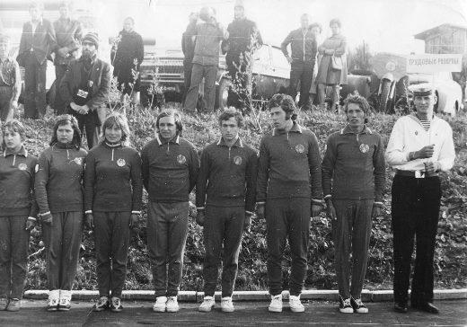 Виктор Мельник в составе Команды Белоруссии, 1975 год. Фото из архива Ю.Л. Нехаевского