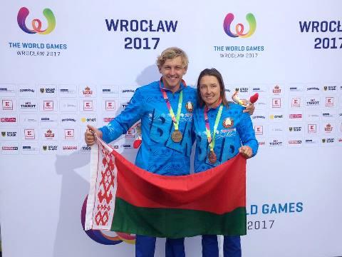 Наталия Бердникова и Александр Исаев принесли награды Всемирных игр для Беларуси. Фото Олега Девятовского