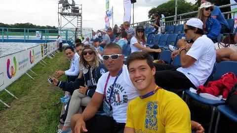 Данил Фильченко и Геннадий Гуралия на трибунах Всемирных игр. Фото из ФБ