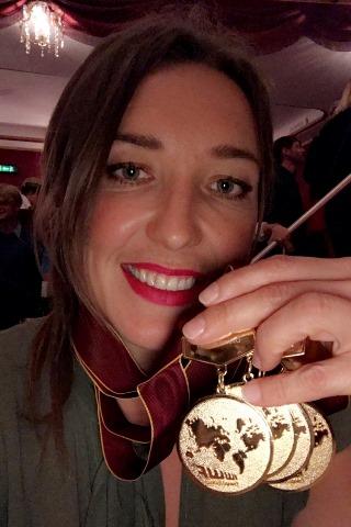 Наталия Бердникова - четырежды чемпионка Европы 2017. Фото из ФБ