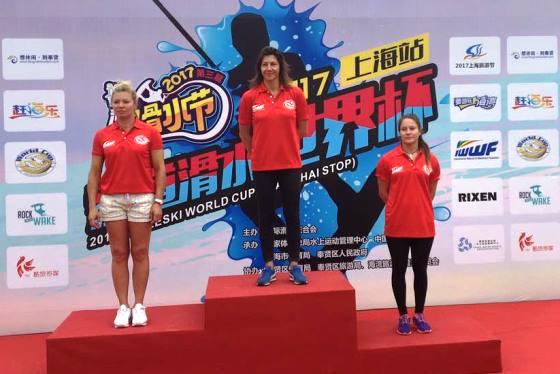 Ирина Турец и Юлия Мейер-Громыко на подиуме Кубка мира 2017. Фото IWWF