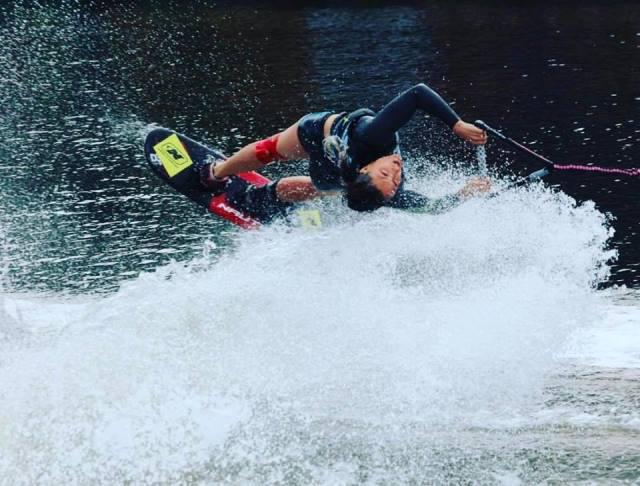 Наталия Бердникова на дистанции фигурного катания 2017 Moomba Masters. Фото из ФБ