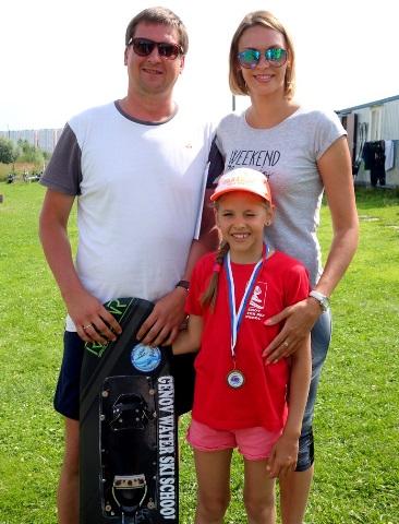 Маша Юранова с родителями Михаилом и Юлией