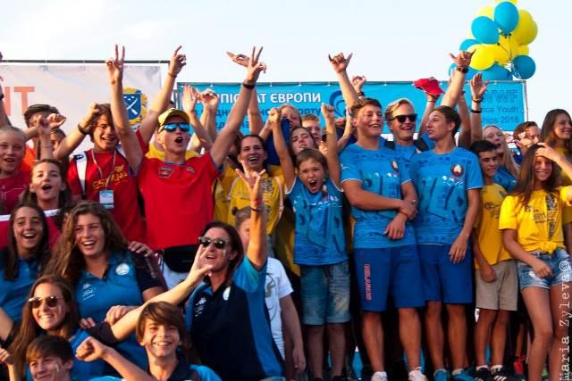 На параде открытия юношеского чемпионата Европы 2018. Фото Sentosa Waterski Team