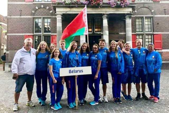 Команда Беларуси - чемпион Европы 2018 среди юниоров. Фото Наташи Геновой