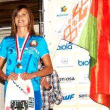 Рекордсменка мира в фигурном катании за электротягой Мария Белякова. Фото Sentosa Waterski Team