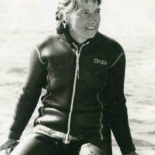 Первая чемпионка СССР по воднолыжному спорту Татьяна Рожкова. Фото из архива Ю.Л. Нехаевского